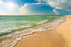 Beach in Miami Stock Photo