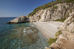 Beach Micro Seitani in island Samos - Greece Stock Images