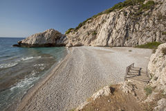 Beach Micro Seitani in island Samos - Greece Stock Photography