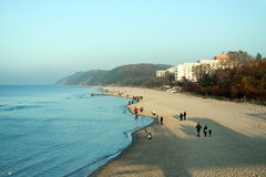 Beach Miedzyzdroje in Poland Royalty Free Stock Images