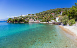 Beach in Milina village, Pelio, Greece Royalty Free Stock Photo