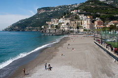 Beach of Minori Stock Photography