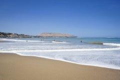 Beach in Miraflores district in Lima, Peru Stock Photos