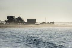 Beach in mist Stock Photo