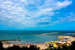 Modern Beach Constanta Stock Image
