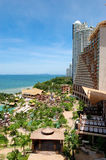 Beach of the modern luxury hotel Stock Photos