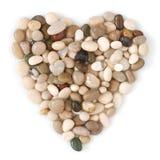 beach mokre kamienie w kształcie serca Zdjęcia Royalty Free