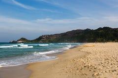 Beach Mole (praia Mole) in Florianopolis, Santa Catarina, Brazil. Beautiful blue water and sky in Beach Mole (praia Mole) in Florianopolis, Santa Catarina Stock Photography