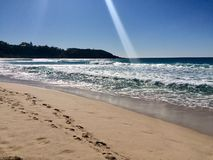 Beautiful summers day at the beach. Beach at Mollymook on a bright summers day Royalty Free Stock Images