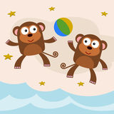 Beach monkeys Stock Photo