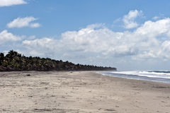 Beach of Monpiche in Ecuador Stock Photo
