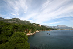 Beach in Montenegro. Beach Montenegro sea water life Royalty Free Stock Images