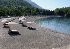 Beach in Montenegro stock image