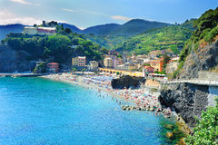 Beach in Monterosso al Mare Stock Photo