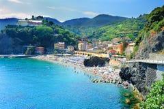 Beach in Monterosso al Mare stock photo