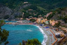 The beach in Monterosso al Mare royalty free stock images