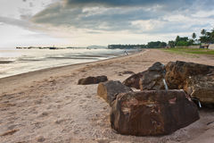 Beach in the moring Royalty Free Stock Photo