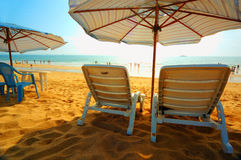The beach in the morning Royalty Free Stock Image
