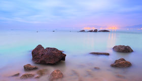 Beach morning colors Stock Photography