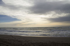 The beach in the morning Royalty Free Stock Photos