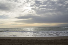The beach in the morning Stock Photography