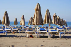 Beach. In the morning Turkish hotel Royalty Free Stock Images