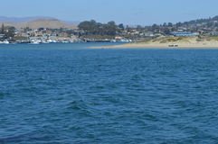 Beach Morro Bay California. Morro Bay, California beach on a cloudless day Stock Photo
