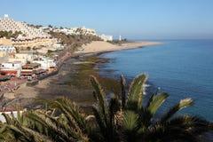 Beach of Morro Jable, Fuerteventura stock image