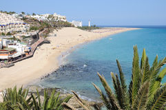 Beach of Morro Jable, Fuerteventura Spain Stock Photography