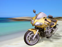 Beach Motorbike Stock Photo