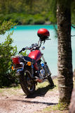 Beach Motorbike. Motorbike parked by the beach Royalty Free Stock Photos