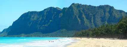 Beach and mountain - Hawaii Royalty Free Stock Photo