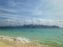 Beach. And mountain in Thailand Stock Image