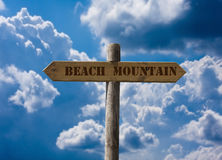 Beach, mountain Stock Photo