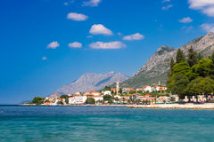 Beach and mountains in Gradac Royalty Free Stock Photos
