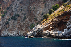 Beach and mountains near Alanya, Turkey Royalty Free Stock Images