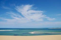 Beach in mozambique. Ocean near to bazaruto islands Stock Photography