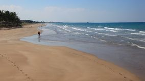 Beach in Muscat, Oman. Al Shatti beach in Qurm, City of Muscat, Kingdom of Oman, Middle East stock video