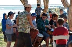 Beach music festival Stock Photo