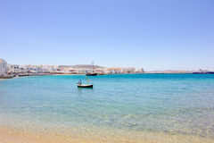 Beach of Mykonos Royalty Free Stock Photo