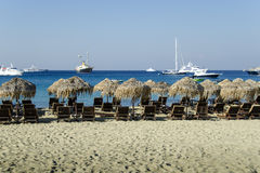 Beach in mykonos Royalty Free Stock Images