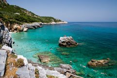 Beach of Mylopotamos (horizontal. Beach of Mylopotamos - Tsagarada - one of the most beautiful beaches of Pelion, Greece Stock Photography