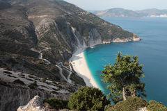 Beach Myrtos, Kefalonia Royalty Free Stock Images
