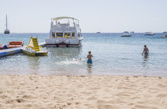On the beach in Naama Bay Royalty Free Stock Images