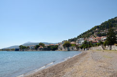 Beach of Nafpaktos Stock Photos