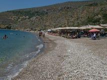 Beach in Nafplio Stock Image