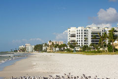 Beach in Naples, Florida Royalty Free Stock Image