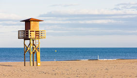 Beach in Narbonne Plage Stock Photography