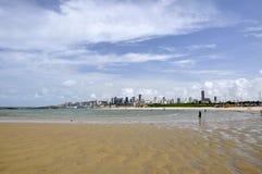 Beach of Natal, Rio Grande do Norte (Brazil). Beach of Natal at low tide, Rio Grande do Norte (Brazil Royalty Free Stock Images