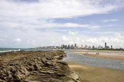 Beach of Natal, Rio Grande do Norte (Brazil) Stock Image